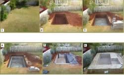 Последовательность создания вкопанного бассейна во дворе
