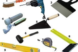 Инструменты для монтажа искусственного камня