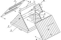 Схема домика колодца