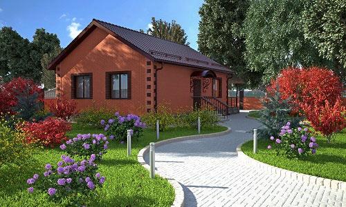 Дачный дом с садом