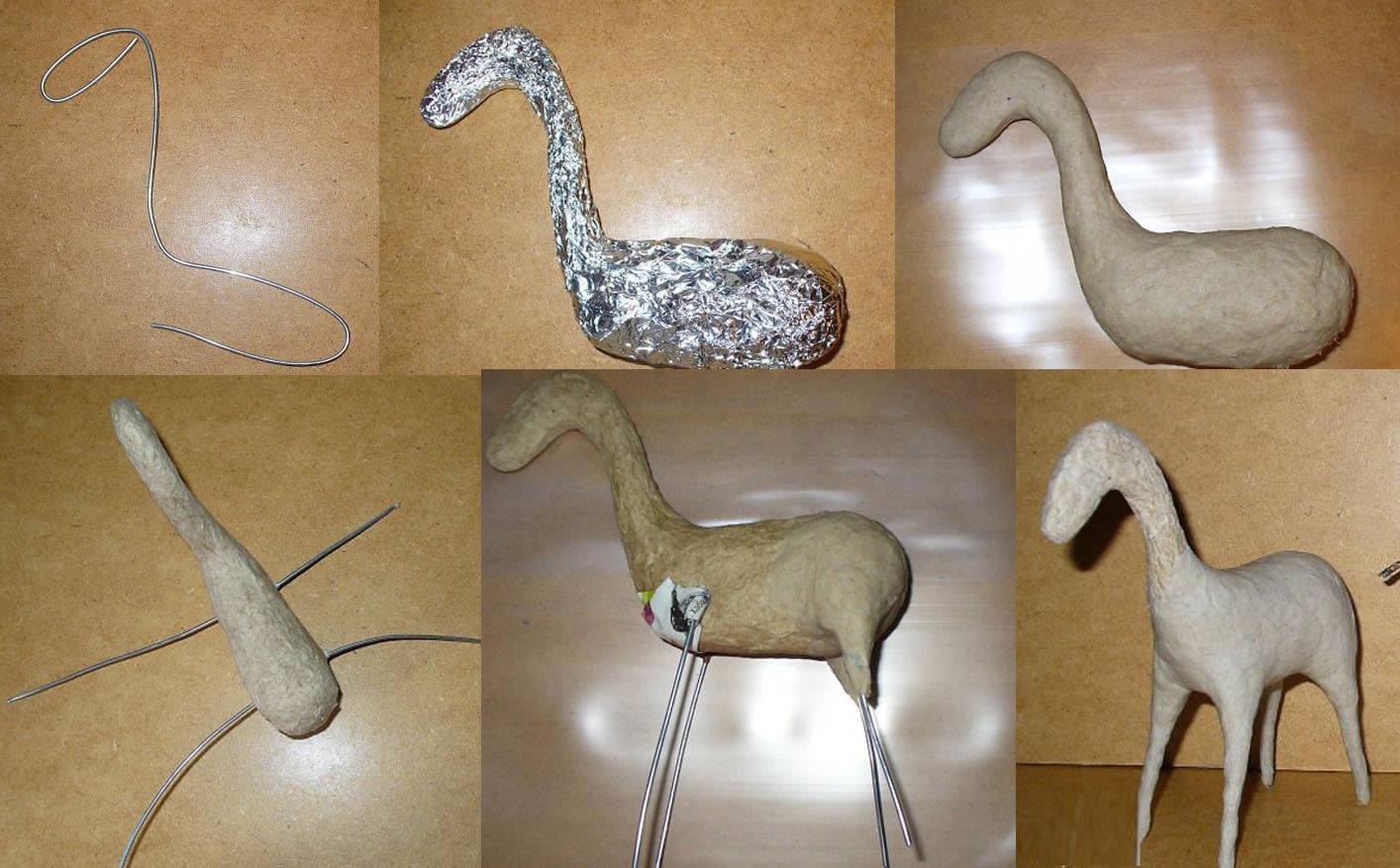 Этапы изготовления скульптуры из папье-маше