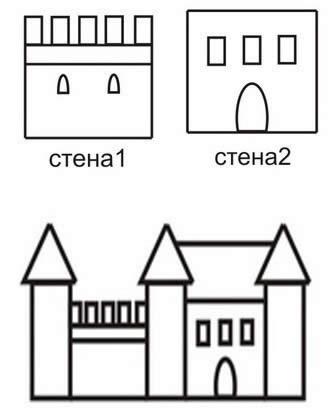 Схема декорации замка. 2 вариант.