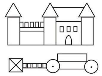 Схема декорации замка. 1 вариант.