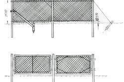 Варианты установки забора из рабицы: сплошным полотном, секциями