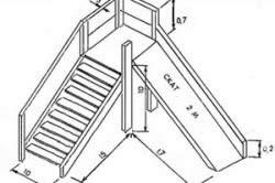 Схема построения горки для детской площадки