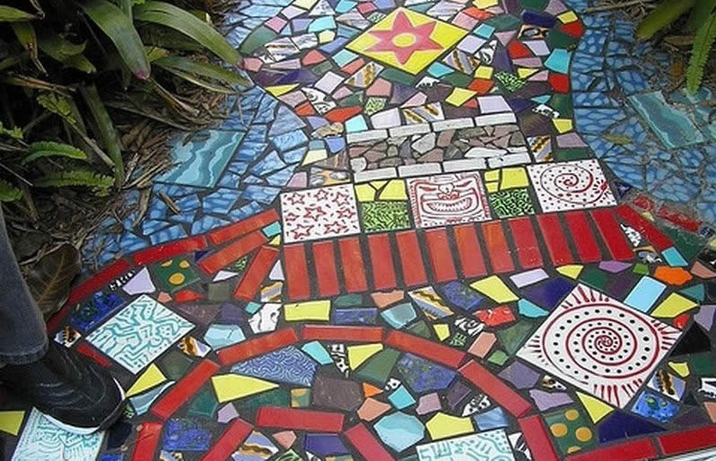 Садовая мозаика своими руками. Для дачников. ру 17