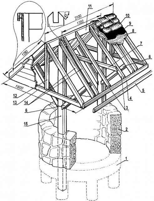 Схема чертежа домика для