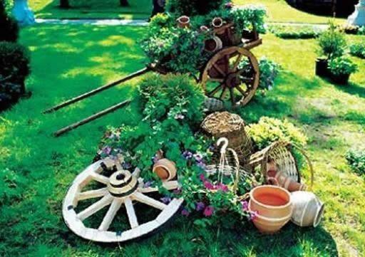 Оформление сада и огорода поделками своими руками