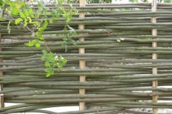 Простое плетение из ивовых прутьев