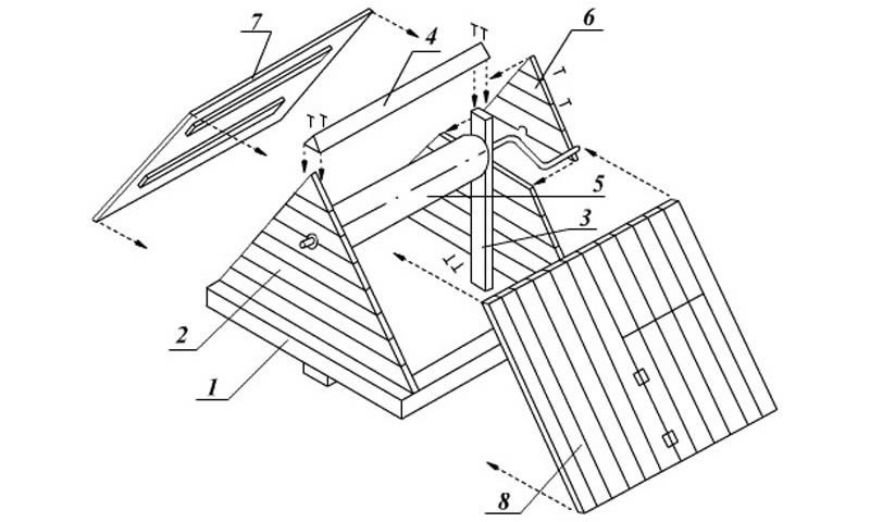 Как построить домик на скважину своими руками