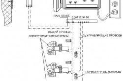 Сателлитная схема подключения э/м клапанов к контроллеру