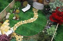 Многоуровневый дизайн дворика