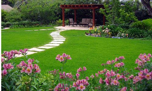 Озелененный участок
