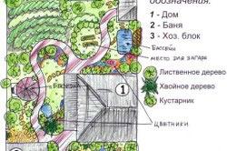План участка с теплицей и хозблоком