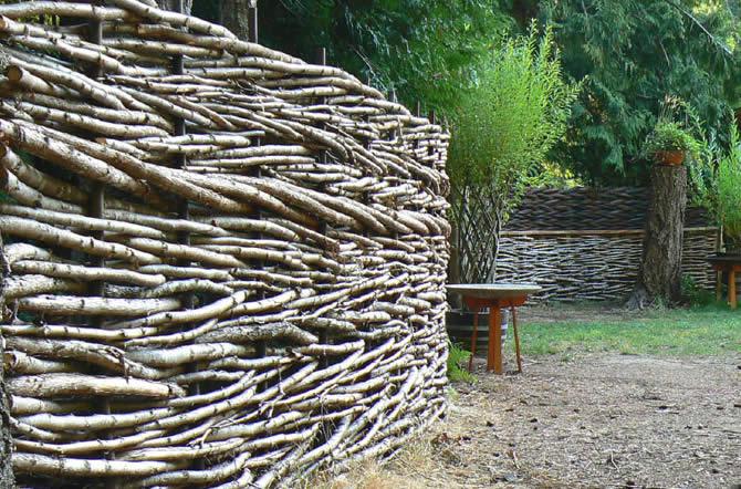 Забор из осины