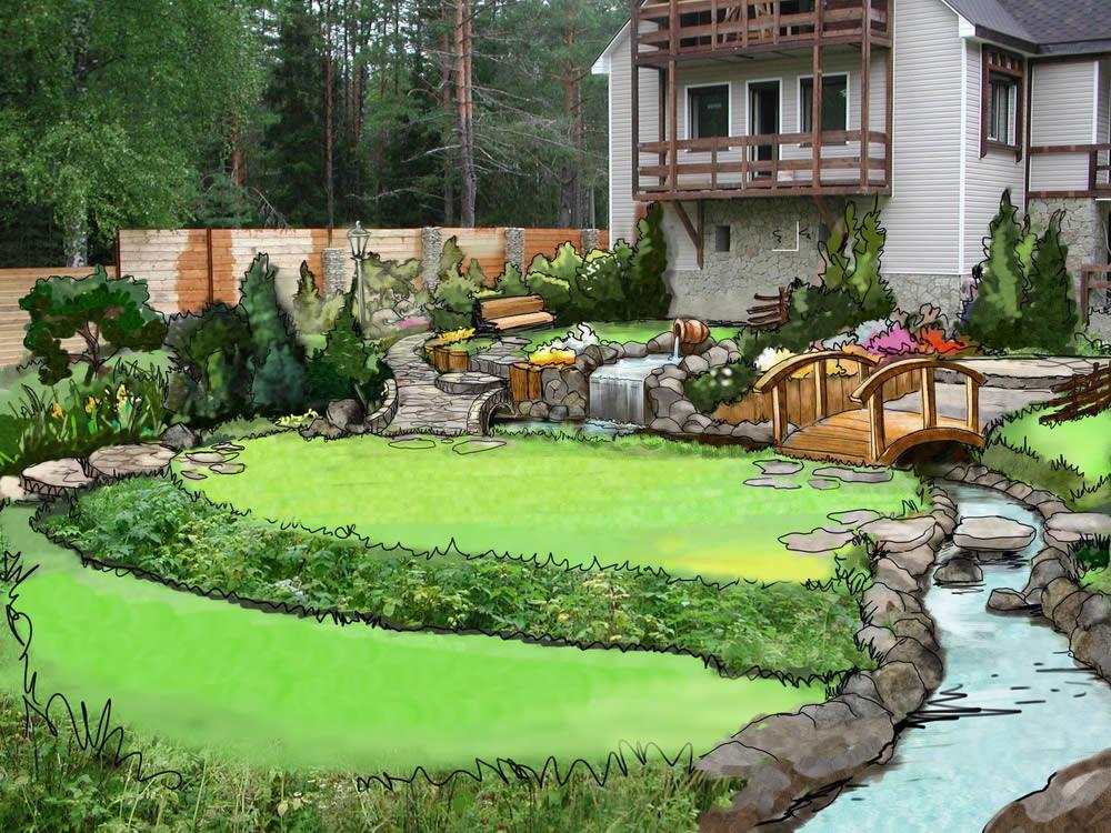 Садовый интерьер