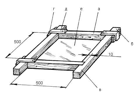 Схема деревянной опалубки для