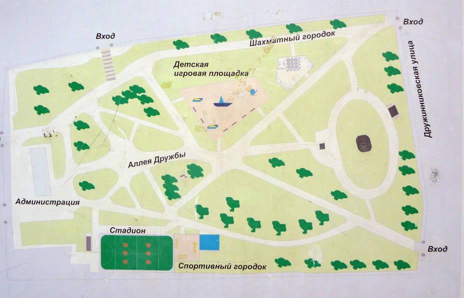 Схема детского парка