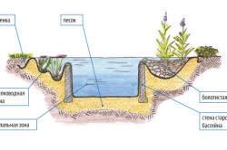 Схема искусственного пруда