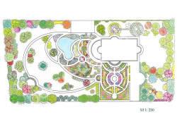Схема ландшафтного проекта участка