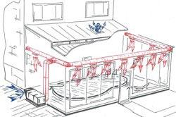 Схема монтажа системы вентиляции бассейна