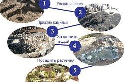Схема планирования пруда