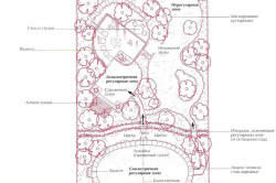 Схема сада с различными типами форм