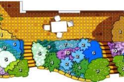 Схема садового цветника