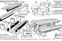 Садовый комбинированный стол