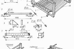 Схема сборки кресла для качелей