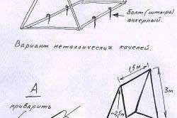 Схема сборки металлических качелей