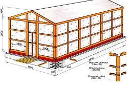 Схема теплицы из поликарбоната