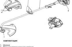 Схема устройства бензинового триммера