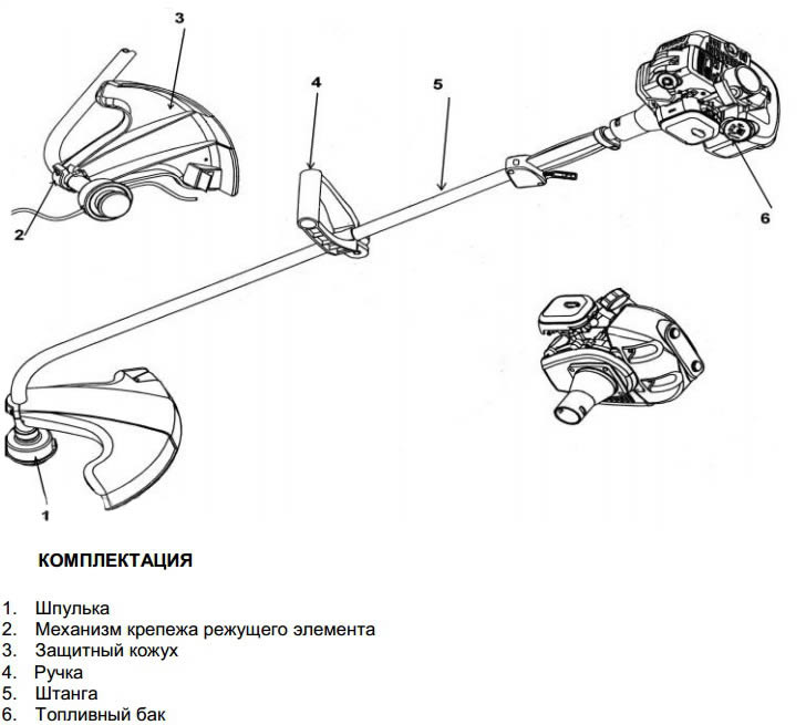 Схема устройства бензинового