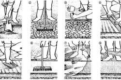 Схема заливки бетонной дорожки