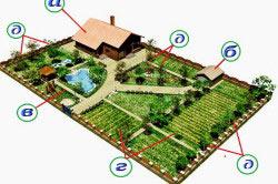 Схема зонирования приусадебного участка