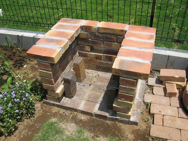 Построить мангал на даче своими руками фото