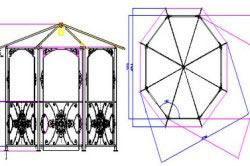 Конструкция деревянной садовой беседки