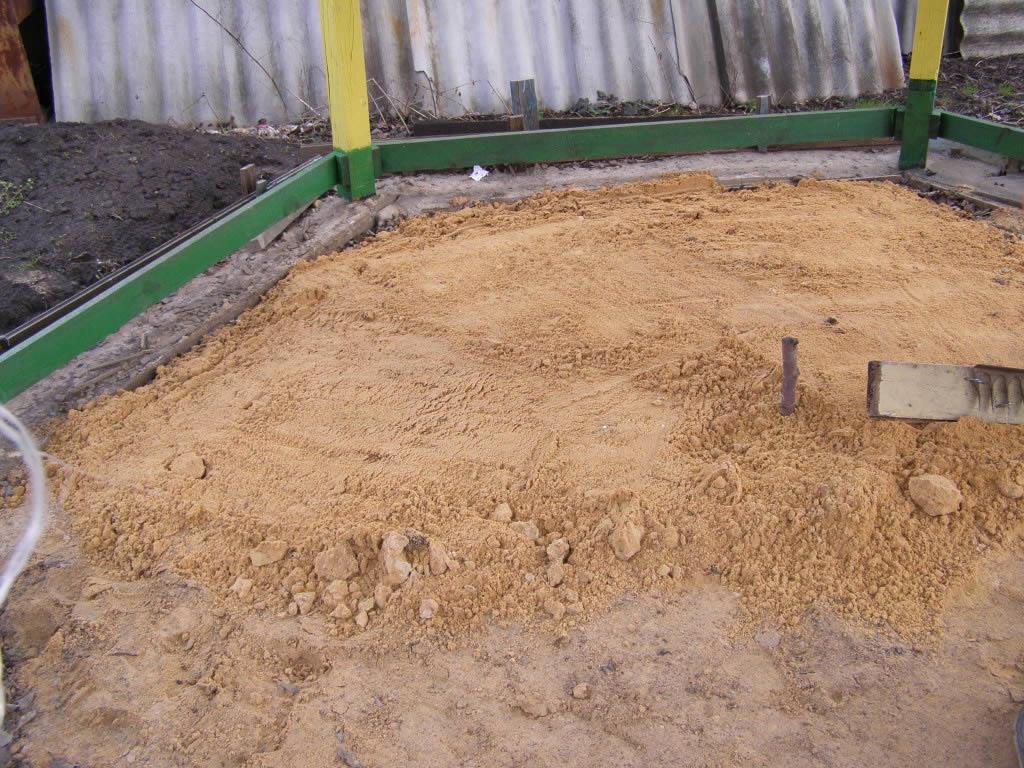 Песчаный пол