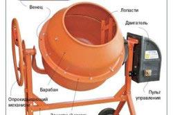 Устройство гравитационного бетономесителя