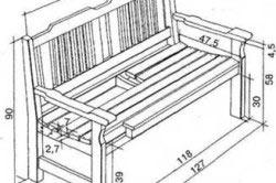 Нанесение размеров будущей скамейки.