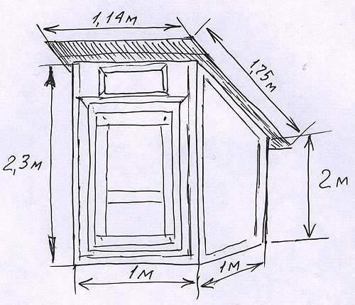 Чертеж домика для туалета