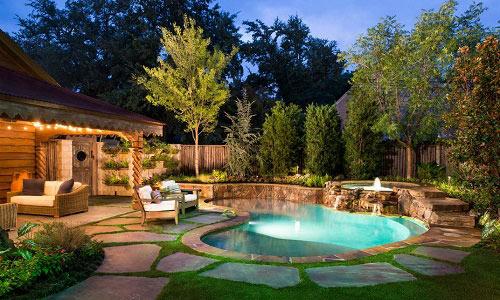 ландшафтный дизайн дачного участка с бассейном фото
