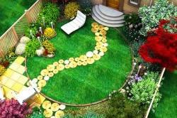 Украшение маленького дворика