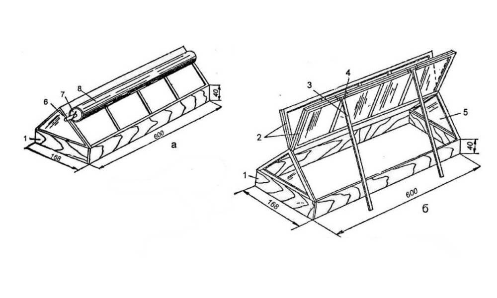 Схема двускатного пленочного