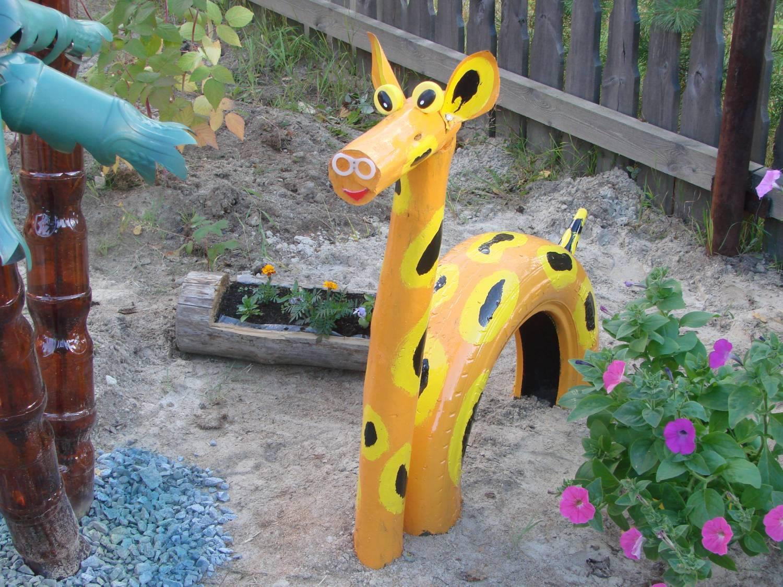 Из покрышки как сделать жирафа