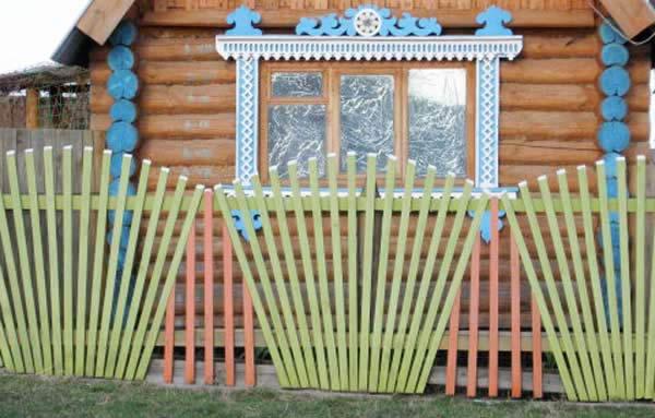 Как сделать красивый деревянный забор своими руками фото