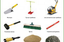 Инструменты для укладки тротуарной плитки