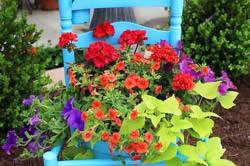 Бытовые предметы в украшении сада