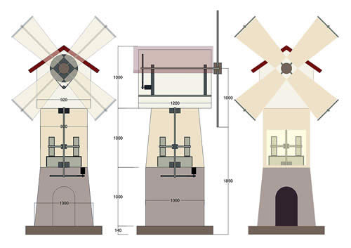 Декоративные мельницы своими руками чертежи